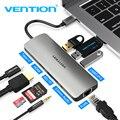 Vention Thunderbolt 3 док-станция USB Hub Type C к HDMI USB3.0 RJ45 адаптер для MacBook Samsung Dex S8/S9 Huawei P30 Pro usb c адаптер