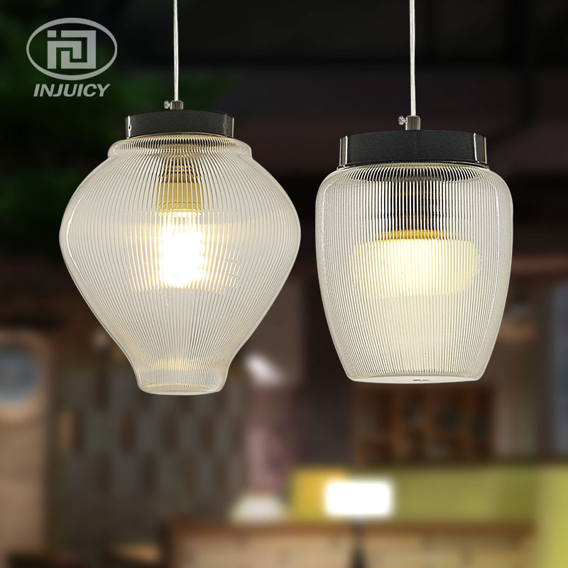 Simple Modern Single Head Dining Acrylic Plexiglass Droplight Bedroom Bar LED High Transparency Pendant Lamp