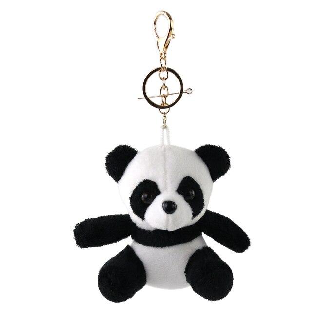 Cozfay Dropshipping Livre Mini Stuffed Animal Panda Chaveiro Urso de Brinquedo de Pelúcia Macia Brinquedos De Pelúcia Chaveiros Panda Escola Saco Decoração
