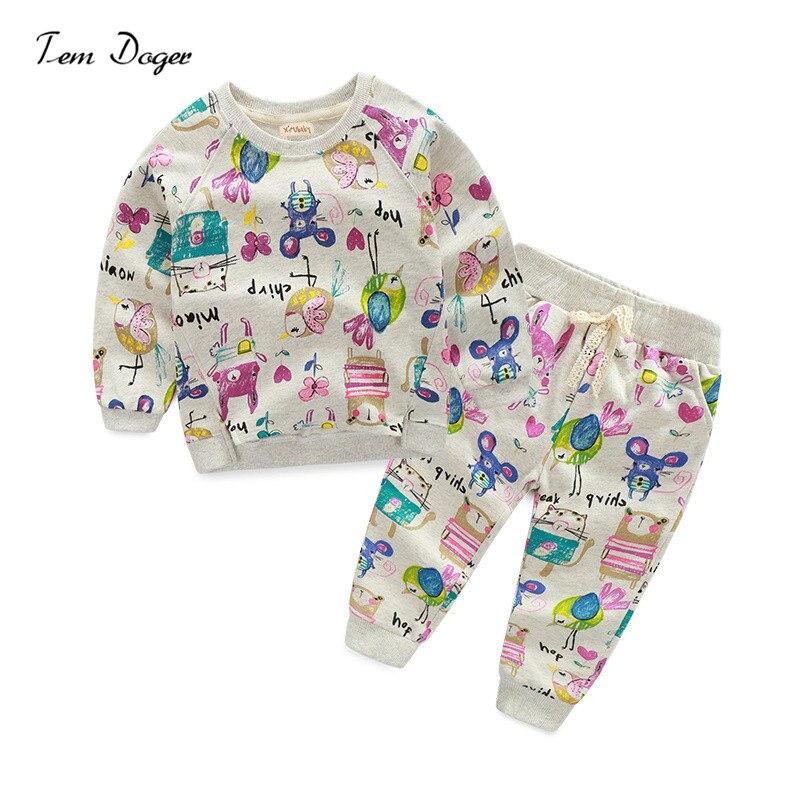 0e1ed8cbd8538 Printemps Automne Enfants Ensembles de Manches Longues Sweatshirts et Coton Pantalon  Fille Vêtements Ensembles Enfants de Vêtements Enfants Vêtements Pour ...