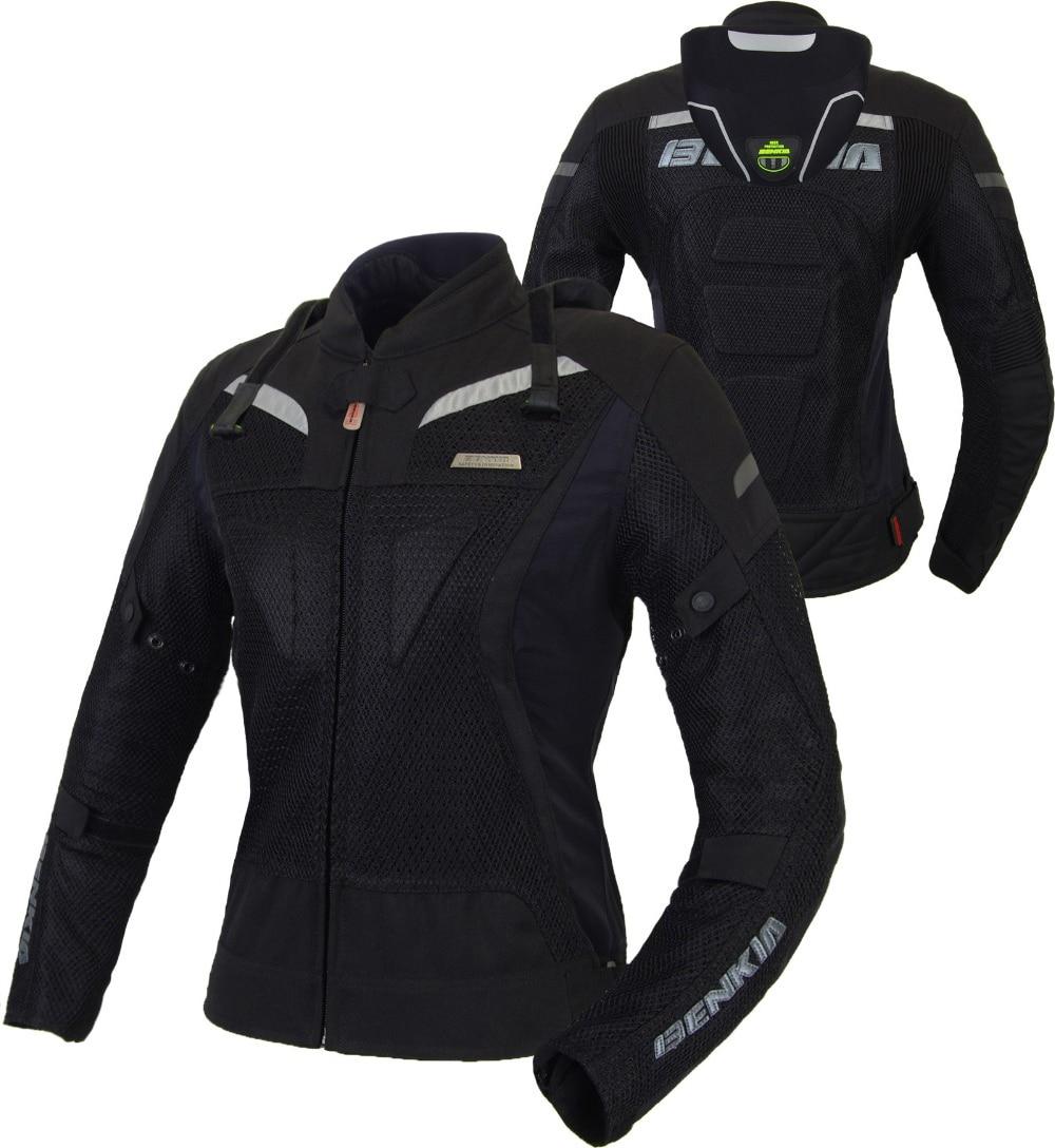 BENKIA Motorcycle Jacket Summer Moto Jacket Breathable Body Armor Motorbike Racing Jacket Jaqueta Motoqueiro Jacket For Women