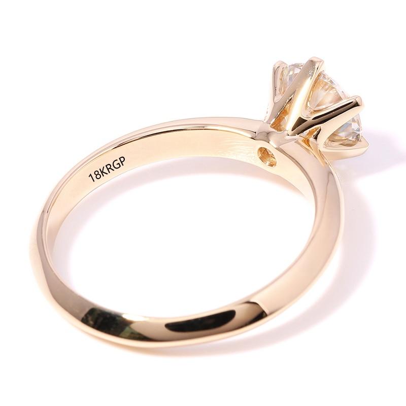 Veliki 95% OFF !! Izvorni prsten od žutog zlata od 18KRGP, 8 mm 2 - Modni nakit - Foto 3