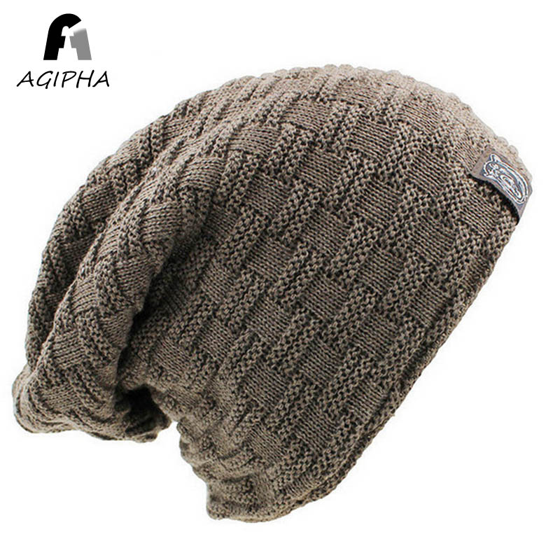 Warm Soft Unisex Knitted Beanie Hat Cap Autumn Winter Casual Solid Skullies Beanies Bonnet For Women Men 6 Colors Gorras