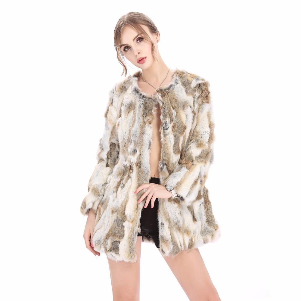 ZY81034 1 las mujeres Chaleco de piel de conejo Real abrigos de piel para mujer Otoño Invierno Chaleco de piel de abrigo de moda de prendas de calidad-in piel real from Ropa de mujer    2