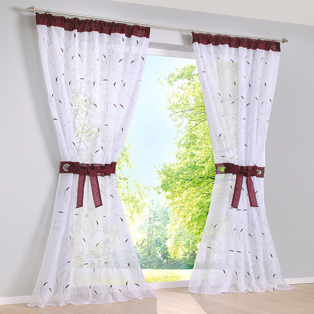 2017 embroidered curtains for living room bedroom window curtains