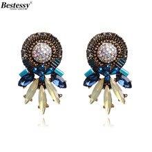 Bestessy New Fashion Statement Jewelry Big Stud Earrings For Women Wedding Bohemian Female Hot Sale Boho Earring Oorbellen