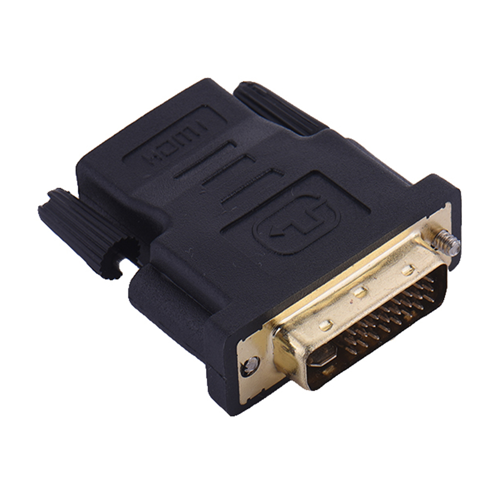 HDMI to DVI Converter DVI 24+5 Male to HDMI Female Adapter Gold Plated 1080P DC1A for HDTV LCD DVI-I Extender HDMI Cable Adapter