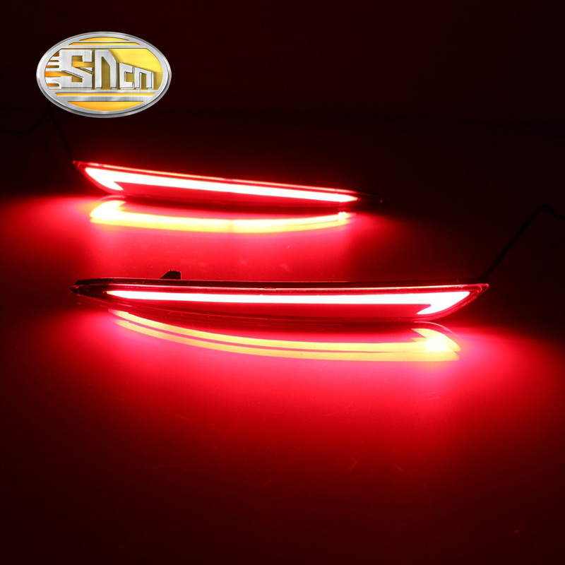 SNCN Multi-function LED Reflector Lamp Rear Fog Lamp Bumper Light Brake Light Turn Signal Light For Ford Fusion Mondeo 2013-2016
