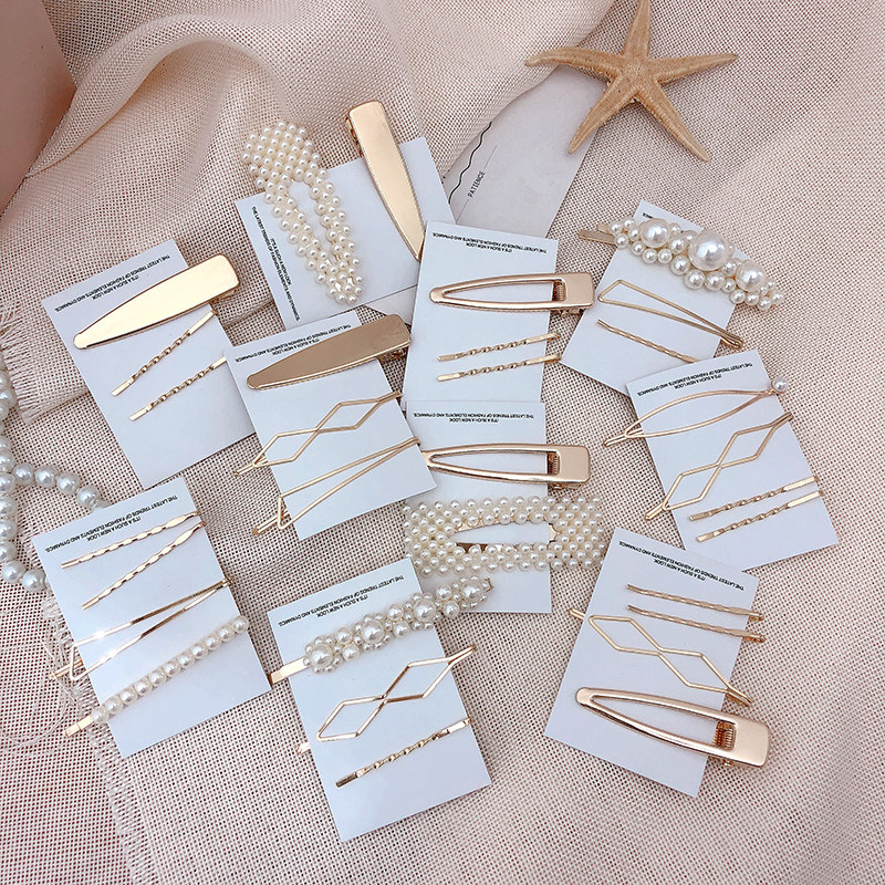 Pearl Hairpin Hair-Accessories Bobby-Pin Drop-Ship Metal Girls Women 3pcs/Set New-Arrival