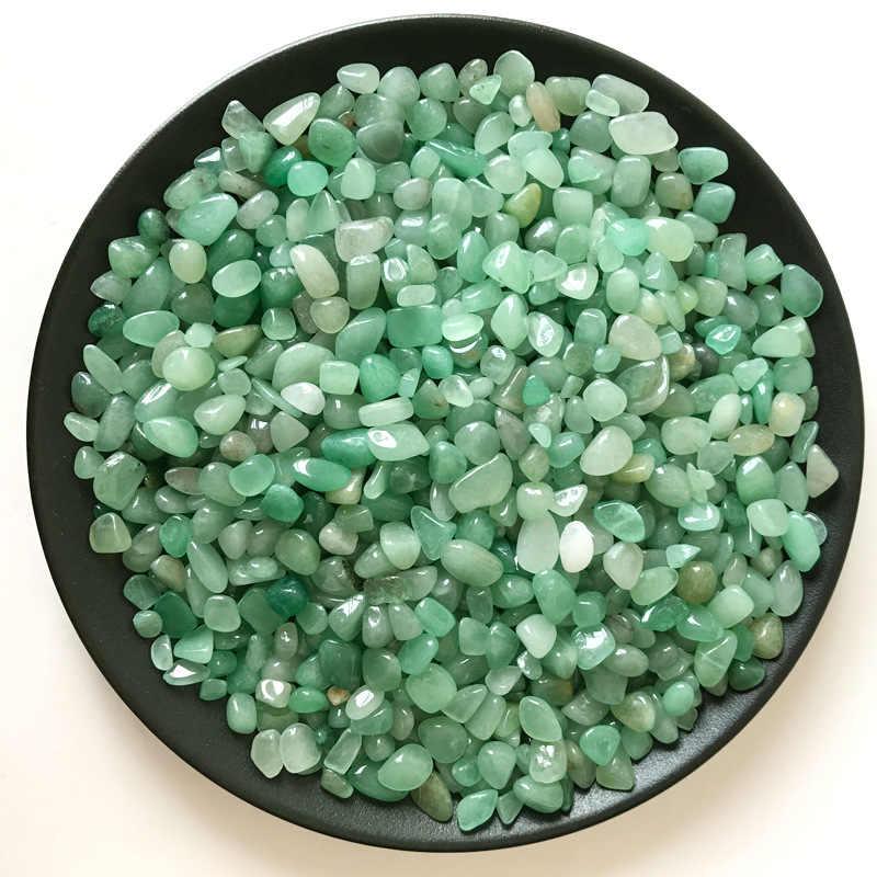 50g 2Sizes Natural Green Aventurine Raw Ore Crushed Quartz Gravel Crystal  Stone Aquarium Planting Pot DIY Crafts Home Decor T165