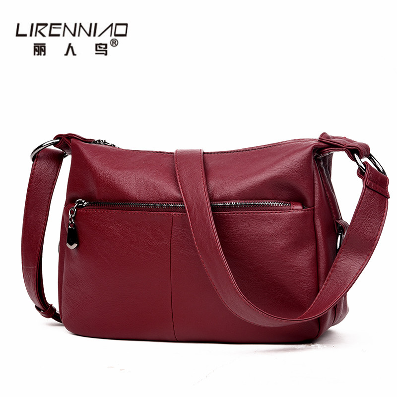 Lirenniao 2017 High Quality Women Messenger Bags Shoulder Luxury Handbags Women Bags Designer Leather Crossbody Bags