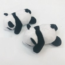 9CM DIY brooch hair accessories panda plush toy doll Cute squatting boy girl birthday present WJ022