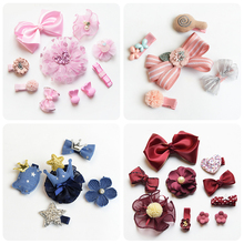 2019 New Fashion Koren 5/10 Pcs/Gift Box Children Hair Accessories Hairband Hairpins for Girl Baby Lovely Bow Headwear Set