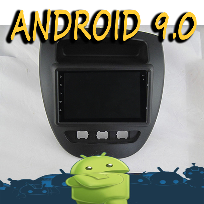 Android 9.0 radio tape recorder 8 core car multimedia GPS Navigation for TOYOTA AYGO CITROEN C1 PEUGEOT 107 video player + frame