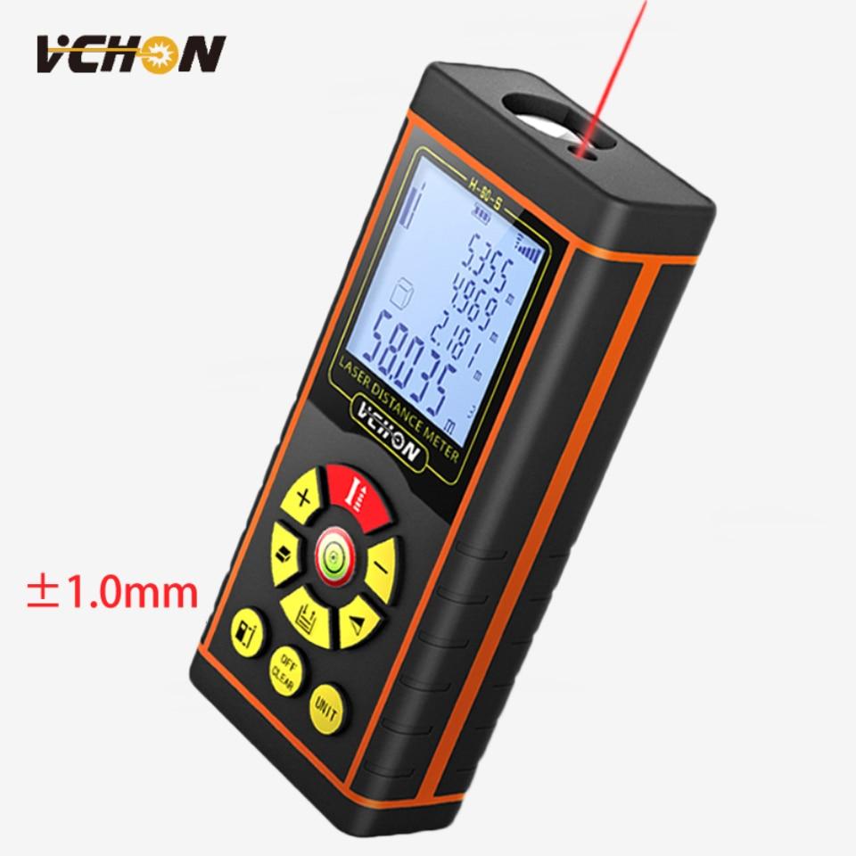 Vchon 40 м желтый лазерный дальномер лазерный Клейкие ленты измерить RZ50 тестер Площадь-объем -Угол инструмент