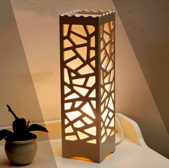 Modern Design Table Lamps Vintage Lampshade Wood Plastic Luminarias De Mesa  Lampshade Living Room Bedroom 110