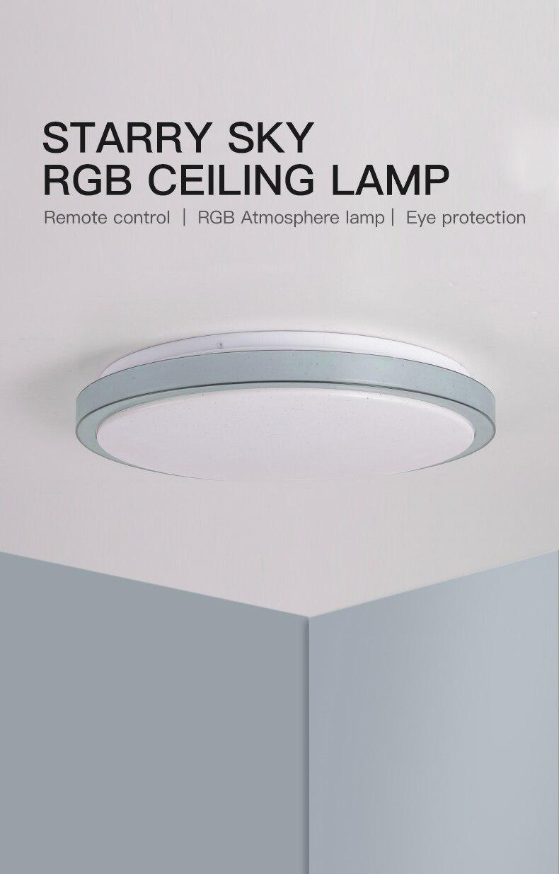 Ceiling Lights Modern Led Ceiling Light 25w Smart Remote Control Rgb Dimmable Color Changing Lamp For Livingroom Bedroom Ac165-265v