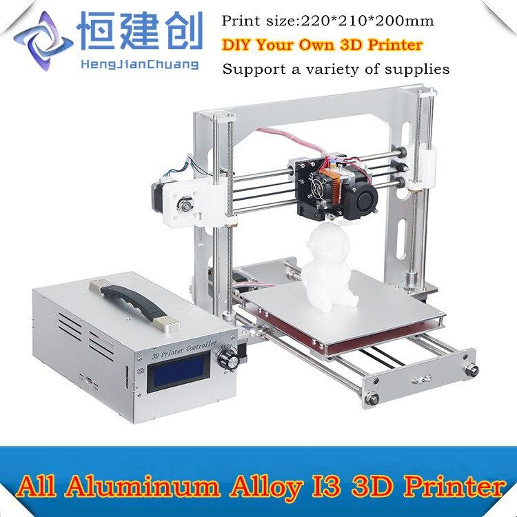 2017 El Más Nuevo Diseño de Marco De Aleación De Aluminio I3 Impresora 3D apoyo