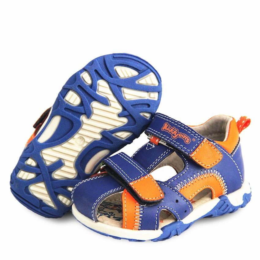 Super Quality 1pair Fashion Summer Children Orthopedic Shoes Boy Genuine Leather Sandals,Kids Baby Sandals Antiskid Soft Shoes