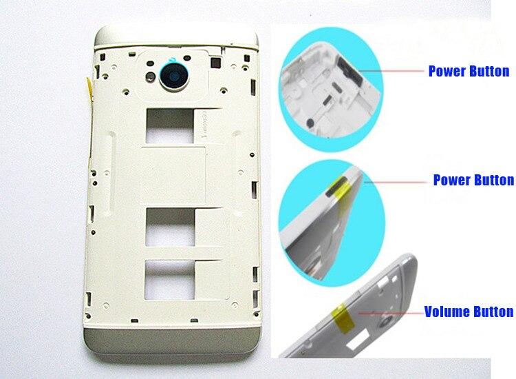 Noir/Argent 100% New Y Cadre logement Moyen Couverture De Cas + Volume & Power Boutons Pour HTC Un M7 802 w 802 t 802d (Dual Sim)