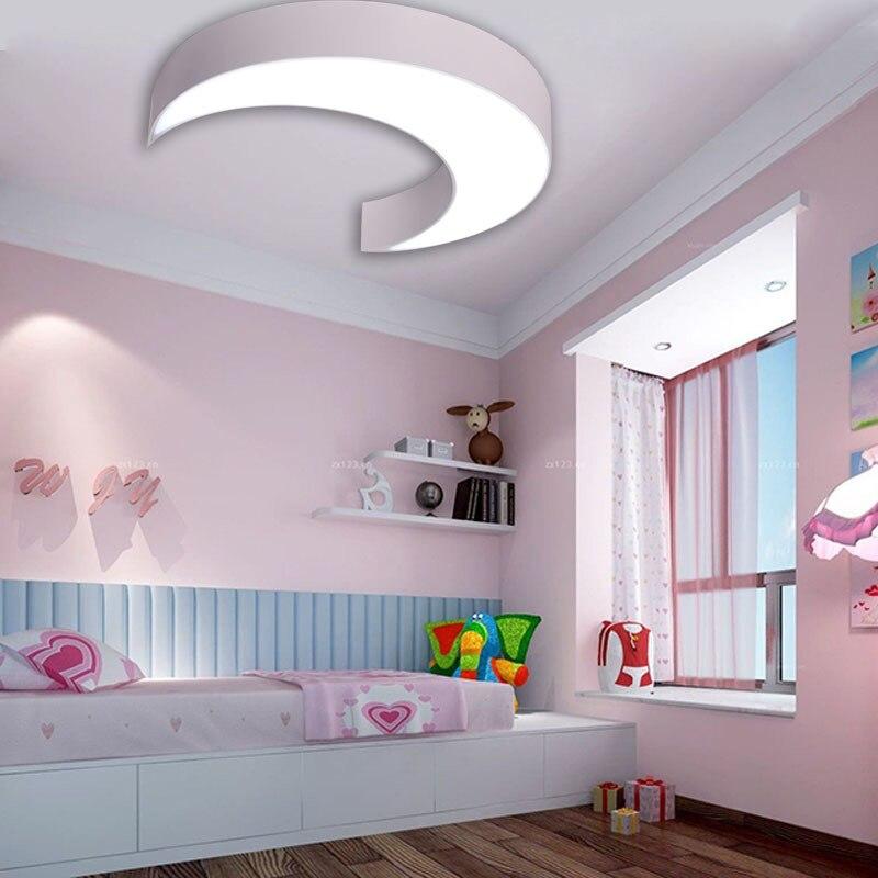 art lamps moon led childrens Ceiling Lights men and women warm room bedroom light simple modern kindergarten lamps LU80115