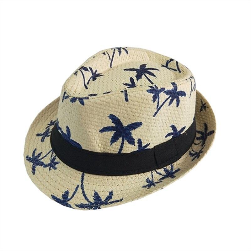 2018 New Summer Kids Flanging Tree Flower Straw Hat Beach Sun Visor Jazz Cap Breathable Fashion Cute Small Casual Beach Wear Mother & Kids