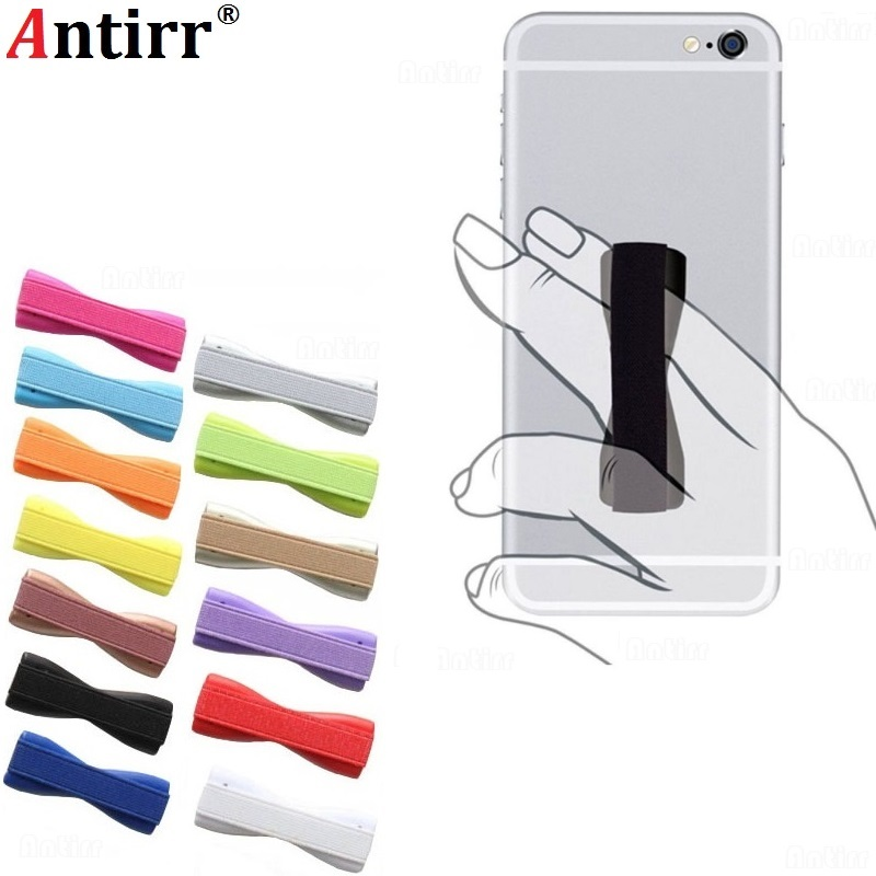 Antirr  For IPhone X Samsung Huawei Finger Sling Grip Elastic Band Strap Universal Phone Holder Stand For Mobile Phones Tablets