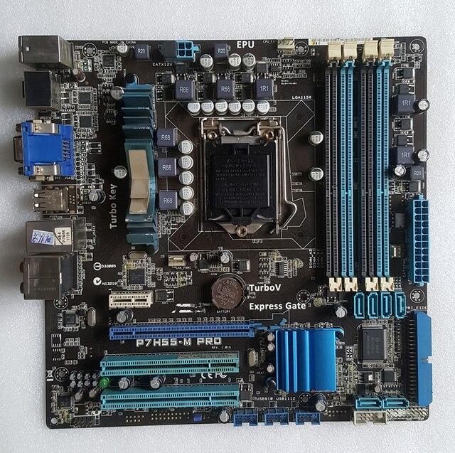Оригинал материнская плата для asus P7H55-M Pro DDR3 LGA1156 плат USB2.0 HDMI VGA DVI 16 ГБ H55 Рабочего материнская плата Бесплатная доставка