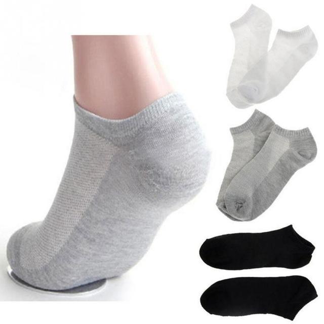 20Pcs=10Pair Solid Mesh Men's Invisible Ankle Socks HOT SALE 3