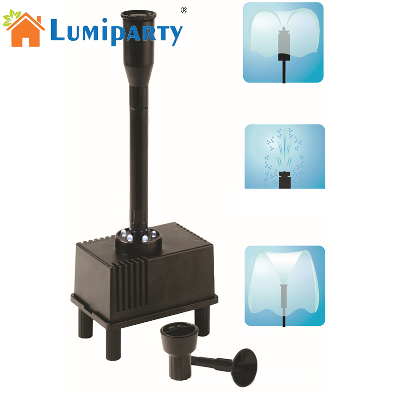 LumiParty Outdoor Fountain Water Pump LED Light Submersible Pump Aquarium Fish Tank Pond Hydroponic Automatical Water FountainsLumiParty Outdoor Fountain Water Pump LED Light Submersible Pump Aquarium Fish Tank Pond Hydroponic Automatical Water Fountains