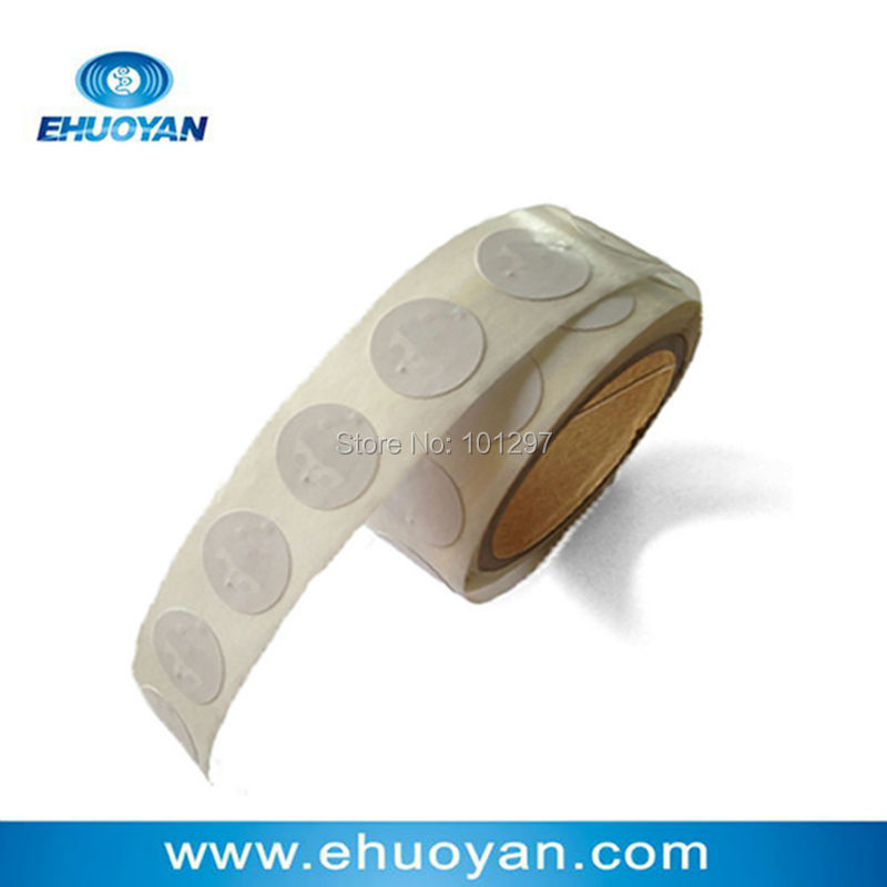 100pcs/lot RFID Label/Sticker/Tag13.56MHZ ISO 14443A  FM11RF08 Round 27mm Paper Lable