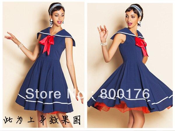 Popular Vintage Sailor Dress-Buy Cheap Vintage Sailor Dress lots ...