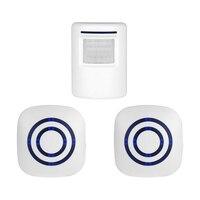 Wireless PIR Sensor Doorbell Battery Musical Door Bell Infared Chime Bell, Alarm Bell EU Plug