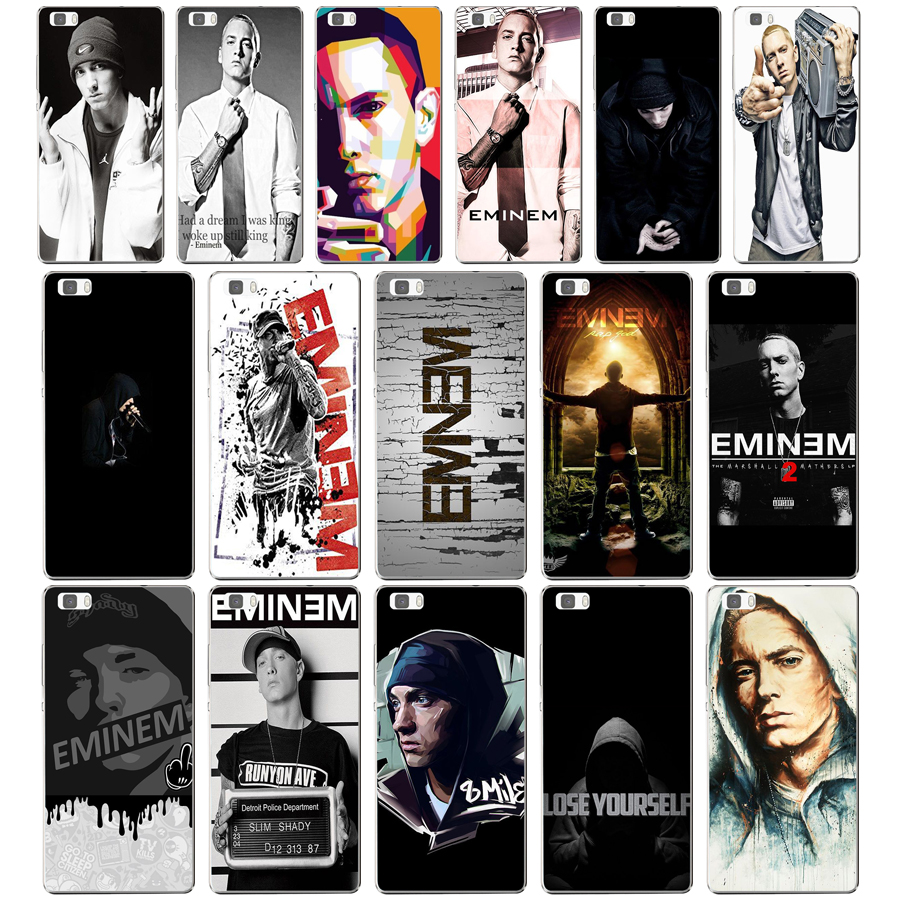 115dd Hop Rapper Eminem Rap Hard Transparent Cover For Huawei P8 P8 P9 P10 Lite Y5 Ii Honor 4c 5c 7 8 & Nova Nourishing Blood And Adjusting Spirit