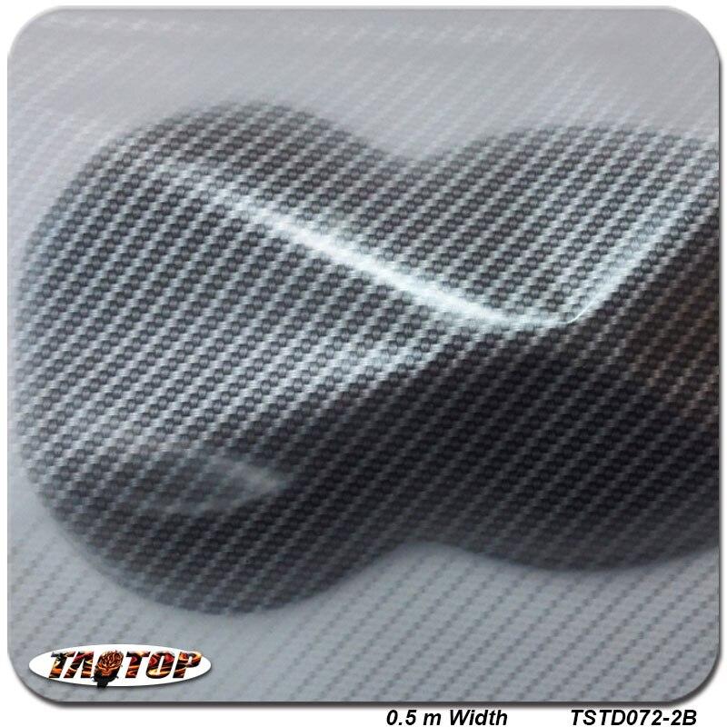 Tsst072-2 серебристый прозрачный углеродное волокно 0.5 м * 2 м Популярные гидро погружения Hydrographics Плёнки вода трансферная печать Плёнки