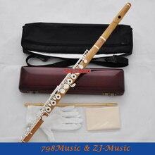 Чистая ручная работа Самшит деревянная флейта 17 отверстий серебро C Ключи B ноги деревянный ящик