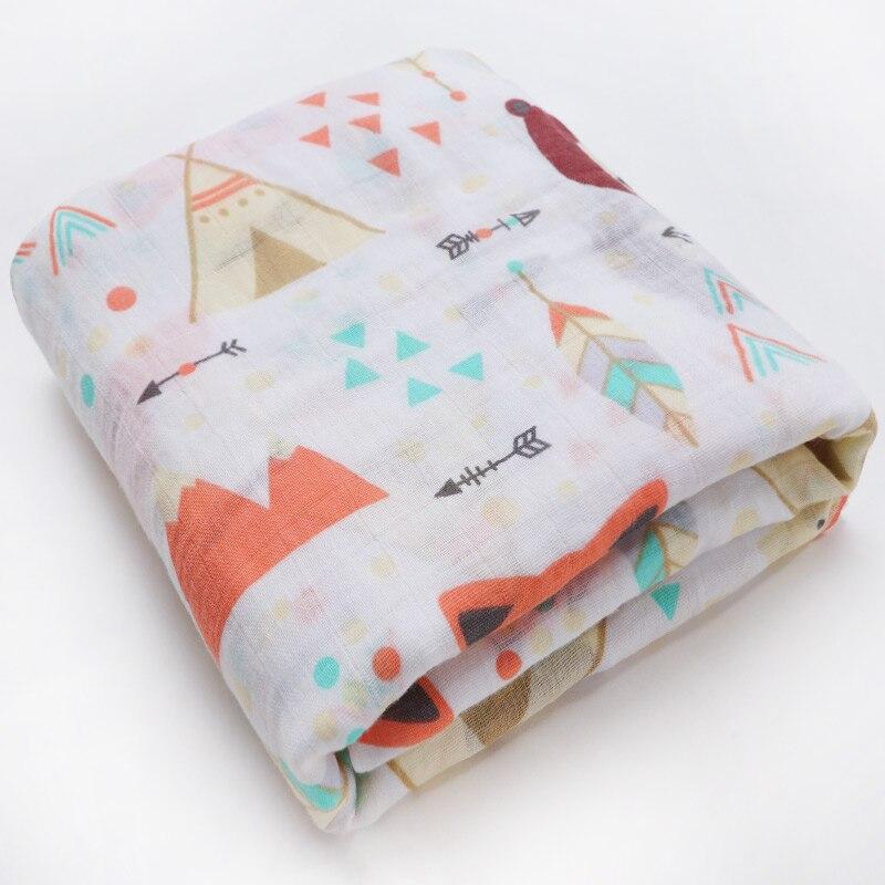 Новинка; хлопковые Супермягкие подгузники из муслина; детское одеяло; Банное полотенце; пеленка; аксессуары для детской кровати; детское одеяло для новорожденных - Цвет: Tent