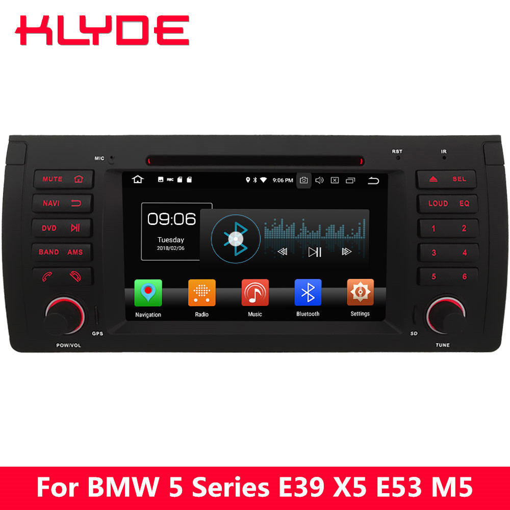 KLYDE 7 4G WIFI Octa Core PX5 Android 8.0 4GB RAM 32GB ROM BT Car DVD Multimedia Player Radio Stereo For BMW X5 M5 E38 E39 E53 klyde 8 4g wifi android 8 0 octa core px5 4gb ram 32gb rom bt car dvd player radio gps navigation for hyundai elantra 2016 2017