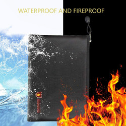 Fireproof Document Bag Fire Resistant & Water Resistant Money Bag Safe Storage Hot Sale High Quality 2018 New Patterns Modern