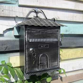 ヴィンテージヴィラメールボックス小さな家デザインポストメール用受領郵便受けホームハンギングデコレーションクリエイティブ Patoral 付