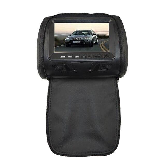 Beiga/Negro/Gris 7 pulgadas reposacabezas monitor Del Coche pantalla 7 ''LCD monitor Del Coche Del monitor de Almohada con cremallera Monitores del coche styling