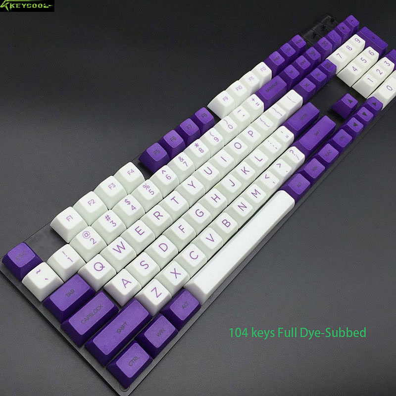 Purple-white SA Profile Keycaps Top Printed PBT keycap Teclado Gamer For Gaming Mechanical Keyboard And Color Corsair Keycap mechanical gaming keyboard motospeed k10 aluminium alloy top cover with bicolor injection keycaps keyboard gamer retail package