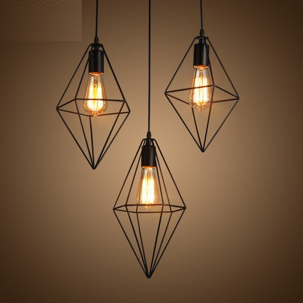Retro Loft Style Pendant Light Fixtures Edison Vintage Industrial Lighting For Indoor Dining Room RH Metal Hanging Lamp loft style iron net retro pendant light fixtures edison industrial vintage lighting for indoor dining room rh hanging lamp
