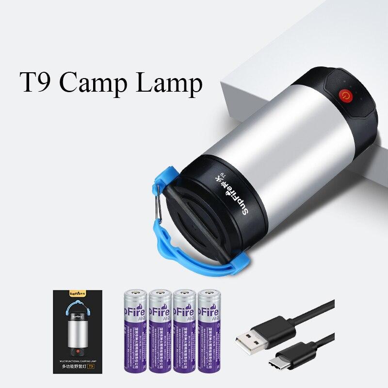 Image 5 - Supfire T9 Camping Light LED Flashlight Linterna Tent Flash Light 8000mAh Power Bank for Fenix Sofirn Convoy Nitecore Lumintop-in LED Flashlights from Lights & Lighting