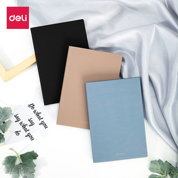 Deli 1PCS PU Leather Colorful Schedule A5 Business Note Book Diary Weekly Planner Notebook School Office Supplies Stationery a5 a6 a7 dot planner diary insert refill schedule organiser 45 sheets note paper stationery office school supplies