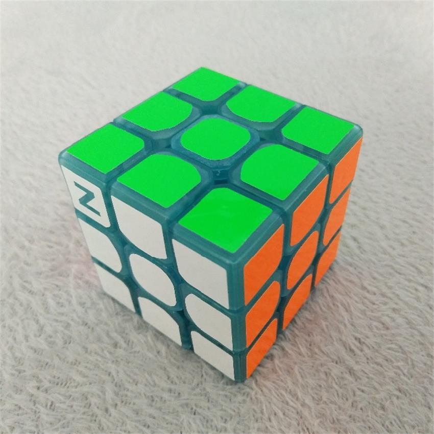 3 * 3 * 3 Mavi Aydınlık Pürüzsüz Hız neo Küp Çocuk Bulmaca - Oyunlar ve Bulmacalar - Fotoğraf 3