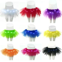 985158286 Fashion Hot LED Light Up El Wire Tutu Fancy Stage Dancing Rave Evening Club  Mini Skirt Women Sexy Skirt