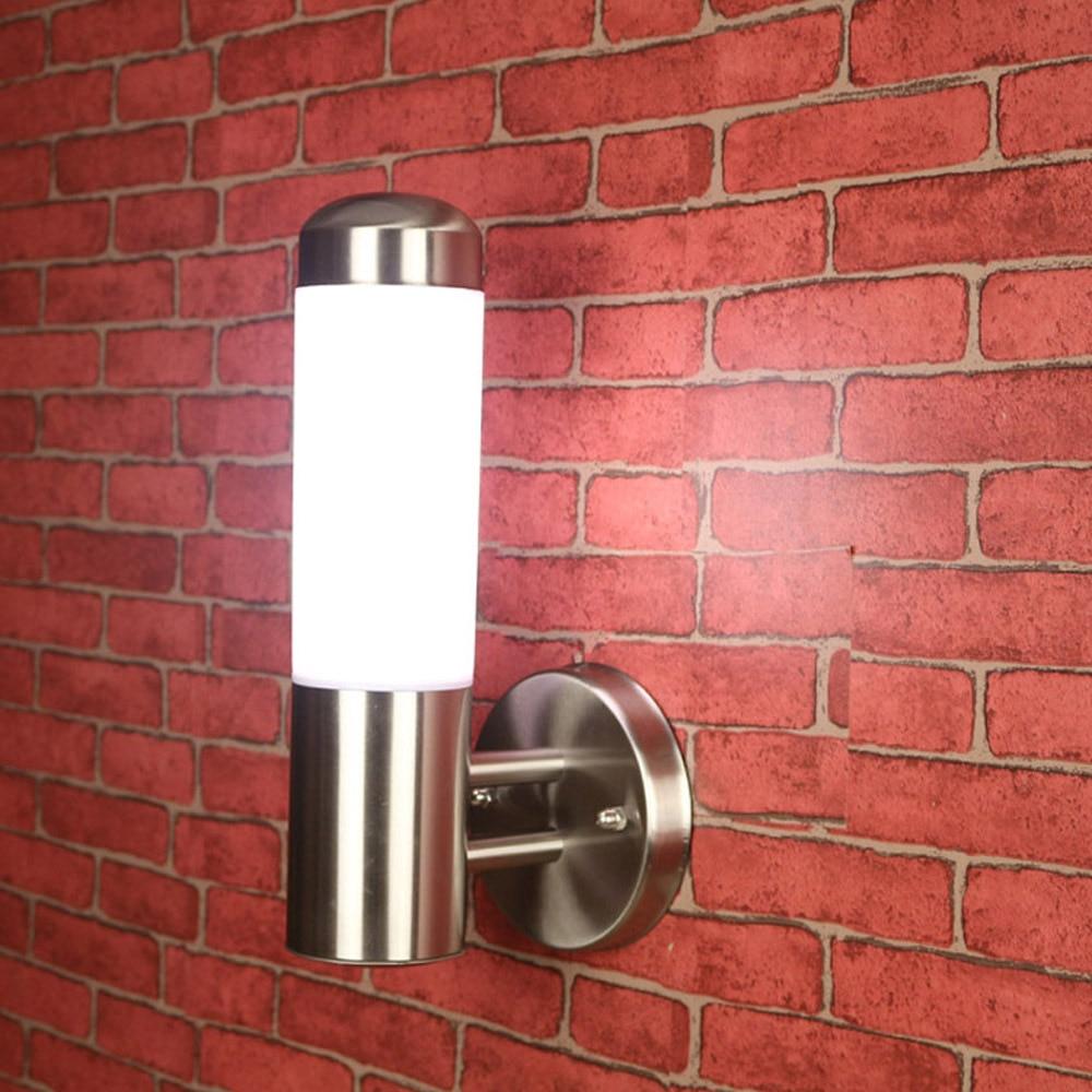 art craft stainless steel led aisle wall sconce outdoor led spot lights wall lamp acrylic e27 garden yard fixture light ip65