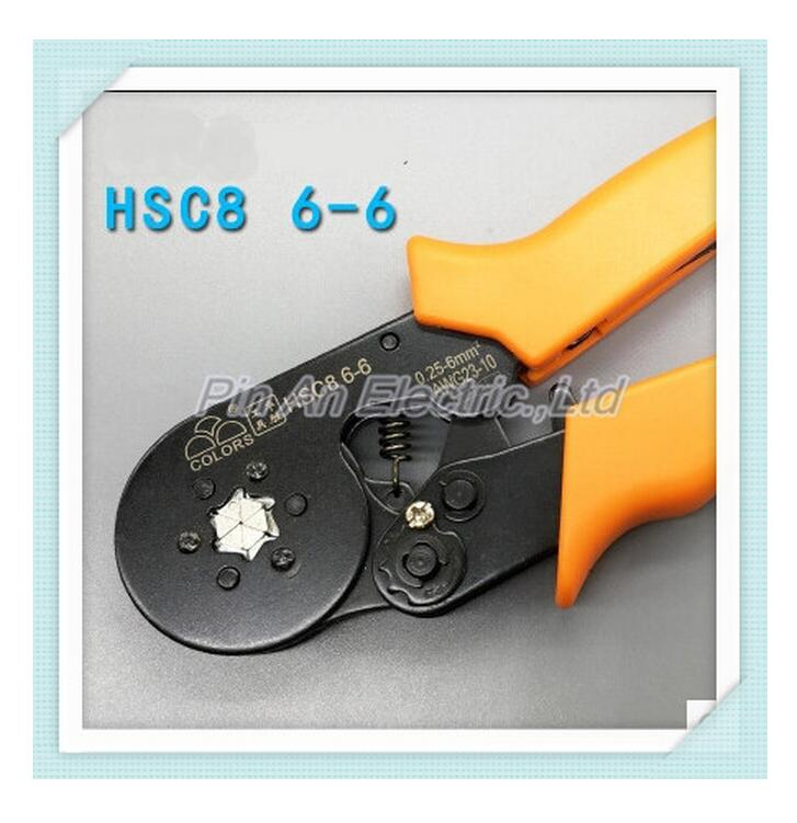 HSC8 6-6A HSC8 6-6 MINI-TYPE SELF-ADJUSTABLE CRIMPING PLIER 0.25-6mm terminals crimping tools multi tools tool HUASHENG BRAND  цены
