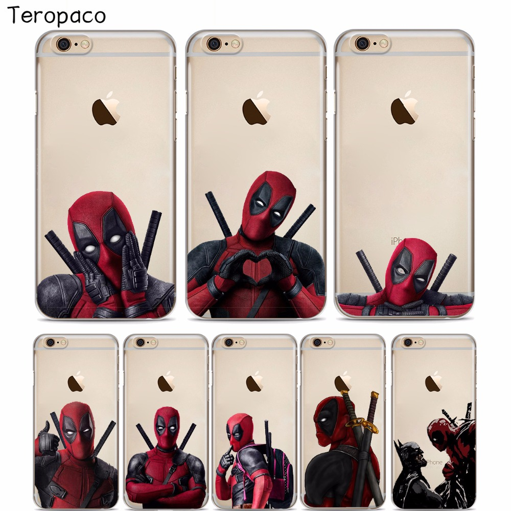 low priced 4e103 4d008 US $1.22 |Super Cool Marvel Deadpool Soft silicone Phone Case Cover For  iphone X XSMax XR 8 8Plus 7 7Plus 6 6S 6Plus 5 5S SE-in Fitted Cases from  ...